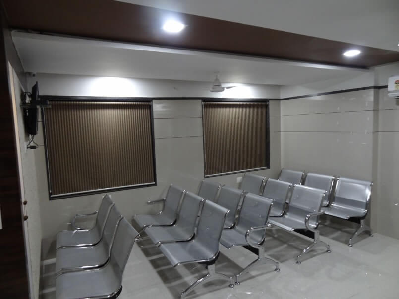 Waiting room- mothercare IVF hospital, Surat