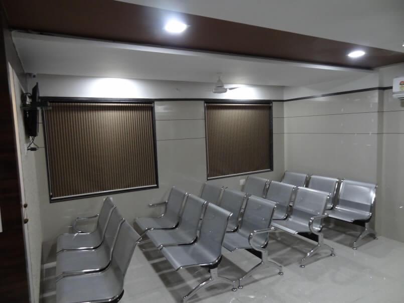 Waiting room- mothercare IVF hospital, Surat